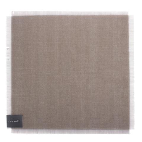 Салфетка подстановочная, винил, (38x39) Jet CHILEWICH Metallic Fringe арт. 100345-001