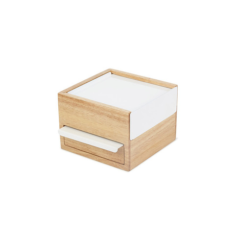 Шкатулка для украшений Stowit Mini белая Umbra 1005314-390