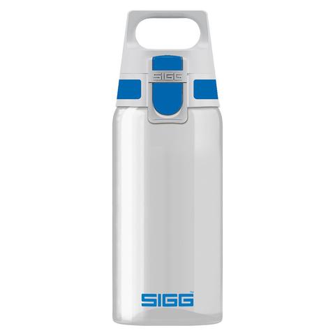 Бутылка для воды Sigg Total Clear One, бело-голубая, 0,5L