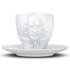 Чайная пара Tassen Talent William Shakespeare, 260 мл, белая T80.12.01