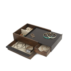 Шкатулка для украшений Stowit чёрный-орех Umbra 290245-048