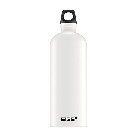 Бутылка для воды Sigg Traveller, белая (черная эмблема), 1L