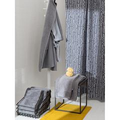 Халат банный из чесаного хлопка серого цвета из коллекции Essential, размер L Tkano TK20-BR0005