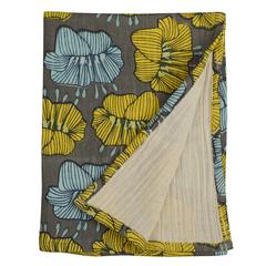 Полотенце кухонное из хлопкового муслина серого цвета с принтом Цветы из коллекции Prairie, 50х70 см Tkano TK20-TT0008