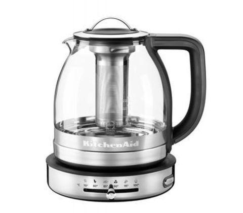Чайник электрический 1,5л для кипячения и заваривания KitchenAid (Прозрачное стекло) 5KEK1322ESS