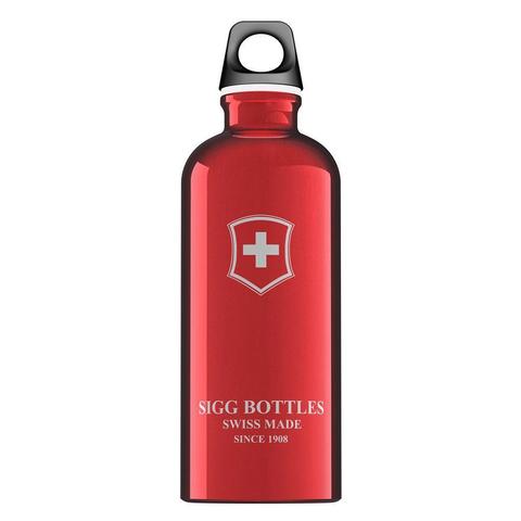 Бутылка для воды Sigg Swiss Emblem, красная, 0,6L