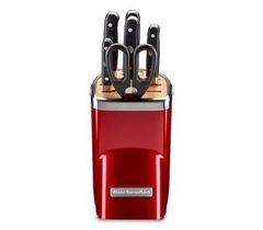 Набор из 4 кухонных ножей, ножниц, мусата и подставки KitchenAid KKFMA07CA