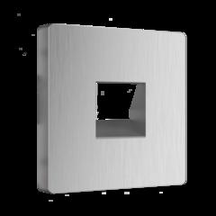 Накладка для RJ11 (серебряный рифленый) WL09-RJ-11-CP Werkel