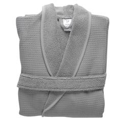 Халат банный из чесаного хлопка серого цвета из коллекции Essential, размер M Tkano TK20-BR0004