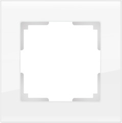 Рамка на 1 пост (белый,стекло) WL01-Frame-01 Werkel