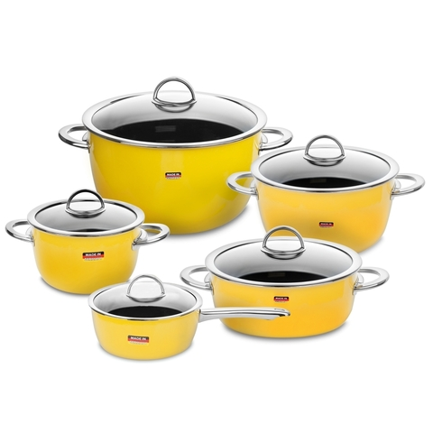 Набор посуды из 5 предметов KOCHSTAR NEO арт. YELLOW-3