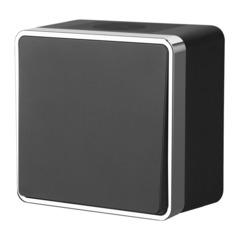 Выключатель одноклавишный влагозащищенный Gallant (черный/хром) WL15-01-02 Werkel