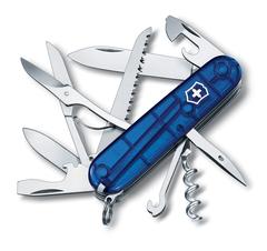 Нож Victorinox Huntsman, 91 мм, 15 функций, полупрозрачный синий 1.3713.T2