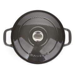 Кастрюля чугунная 24см (3,8л) CHASSEUR Caviar (цвет: cеребристо-черный) арт. 472489