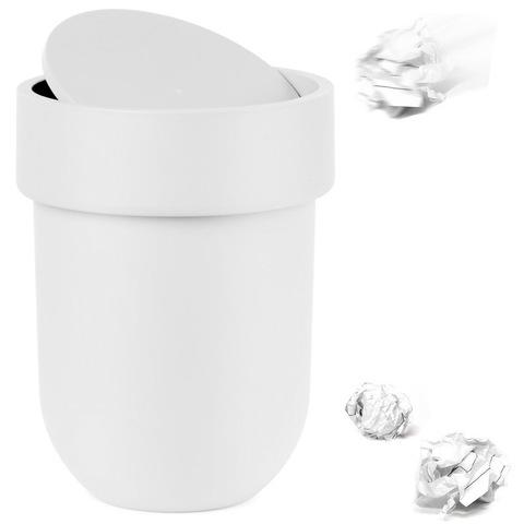 Контейнер мусорный Touch с крышкой белый Umbra 023269-660