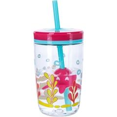 Детский стакан для воды с трубочкой Contigo Floating Straw Tumbler (0.47 литра), розовый contigo0773