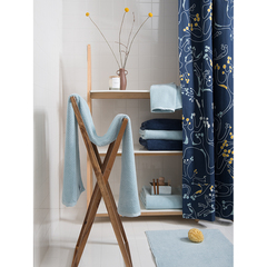 Коврик для ванной ворсовый из чесаного хлопка голубого цвета из коллекции Essential, 50х80 см Tkano TK20-BM0003