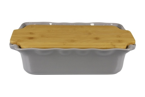 Форма с доской прямоугольная 37 см Appolia Cook&Stock DARK GREY 131037006