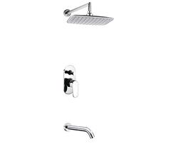 А13031 Встраиваемый комплект для ванны с изливом и верхней душевой насадкой WasserKRAFT