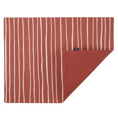 Cалфетка двухсторонняя под приборы из хлопка терракотового цвета с принтом Полоски из коллекции Prairie, 35х45 см Tkano TK20-PM0002
