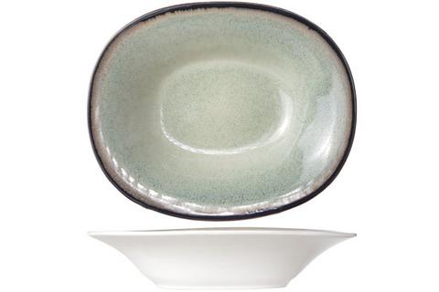 Тарелка для супа овальная 17,5х21,5 см COSY&TRENDY Fez green 9212174