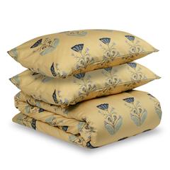 Комплект постельного белья двуспальный из сатина с принтом 'Летний цветок' из коллекции Essential Tkano TK19-DC0011