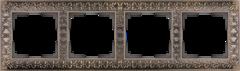 Рамка на 4 поста  (бронза) WL07-Frame-04 Werkel