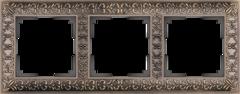 Рамка на 3 поста  (бронза) WL07-Frame-03 Werkel