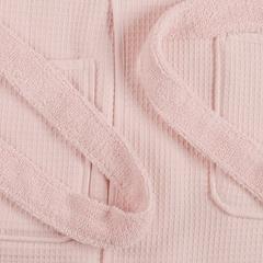 Халат банный из чесаного хлопка цвета пыльной розы из коллекции Essential, L Tkano TK20-BR0002