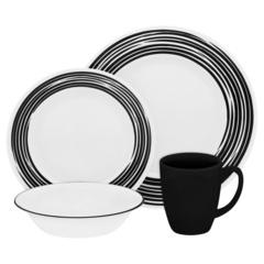 Набор посуды 16 предметов Corelle Brushed Black 1117022
