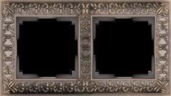 Рамка на 2 поста  (бронза) WL07-Frame-02 Werkel