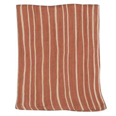 Полотенце кухонное из хлопкового муслина терракотового цвета с принтом Полоски из коллекции Prairie, 50х70 см Tkano TK20-TT0009