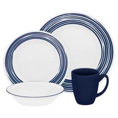 Набор посуды 16 предметов Corelle Brushed Cobalt Blue 1117030