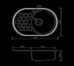 Кухонная мойка из нержавеющей стали OMOIKIRI Kasumigaura 77-1-IN-R (4993002)