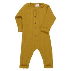 Комбинезон с длинным рукавом из хлопкового муслина горчичного цвета из коллекции Essential 12-18M Tkano TK20-KIDS-JSL0002