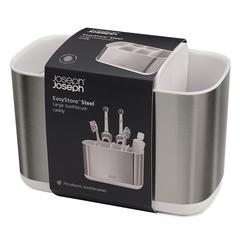 Органайзер для зубных щеток EasyStore Steel большой белый Joseph Joseph 70531