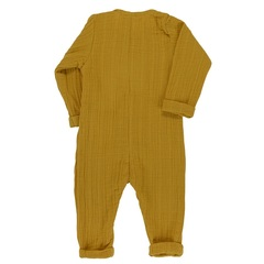 Комбинезон с длинным рукавом из хлопкового муслина горчичного цвета из коллекции Essential 9-12М Tkano TK20-KIDS-JSL0001