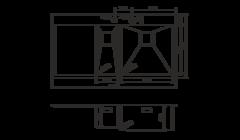 Кухонная мойка из нержавеющей стали OMOIKIRI Akisame 100-2-LG-R (4993090)