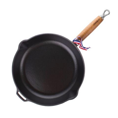 Сковорода чугунная 26см с эмалированным покрытием, ручка деревянная, CHASSEUR арт. 312603