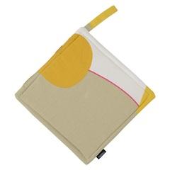 Прихватка из хлопка горчичного цвета с авторским принтом из коллекции Freak Fruit, 22х22 см Tkano TK20-PH0010