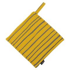 Прихватка из хлопка горчичного цвета с принтом Полоски из коллекции Prairie, 22х22 см Tkano TK20-PH0008
