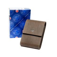 Набор бритвенный Dovo: 5 предметов, цвет коричневый, кожаный футляр 574056