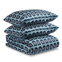 Комплект постельного белья двуспальный из сатина с принтом Blossom time из коллекции Cuts&Pieces Tkano TK19-DC0013