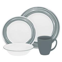 Набор посуды 16 предметов Corelle Brushed Silver 1116940