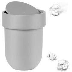 Контейнер мусорный Touch с крышкой серый Umbra 023269-918
