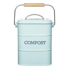 Бак для мусора Living Nostalgia blue Kitchen Craft LNCOMPBLU