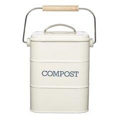 Бак для мусора Living Nostalgia creamy Kitchen Craft LNCOMPCRE