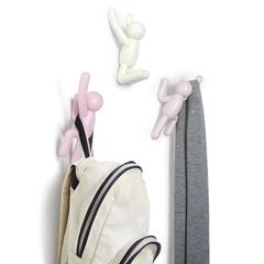 Вешалки-крючки Buddy 3 шт. разноцветные розовые Umbra 318165-1207