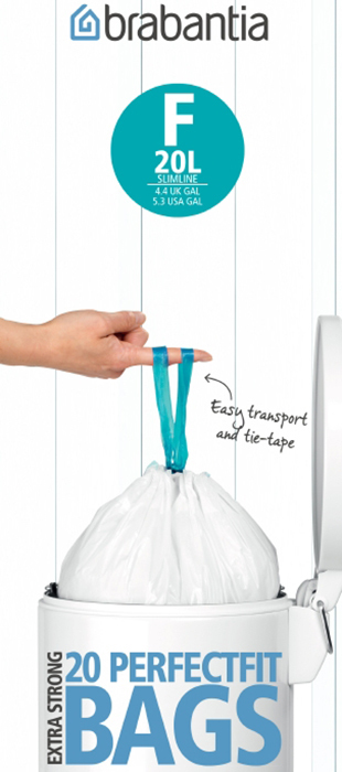Пакет пластиковый, высокий 20л 20шт Brabantia 245305