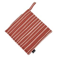 Прихватка из хлопка терракотового цвета с принтом Полоски из коллекции Prairie, 22х22 см Tkano TK20-PH0006
